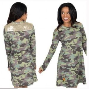 Simply Southern Sequin & Camo Dress
